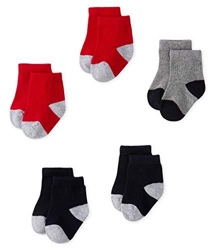 Petit Bateau Unisex Baby CHAUSSETTES_5140002 Socken, Mehrfarbig (Smoking/Terkuit 02), 15-18 (Herstellergröße: P15 POINTURE 15/18 (NAI/3MOIS)) (5er Pack)