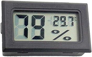 CUHAWUDBA Paquete de 4 TermóMetros Digitales Medidores de HigróMetro Medidor Temperatura de VisualizacióN de NúMeros Grandes en Interiores