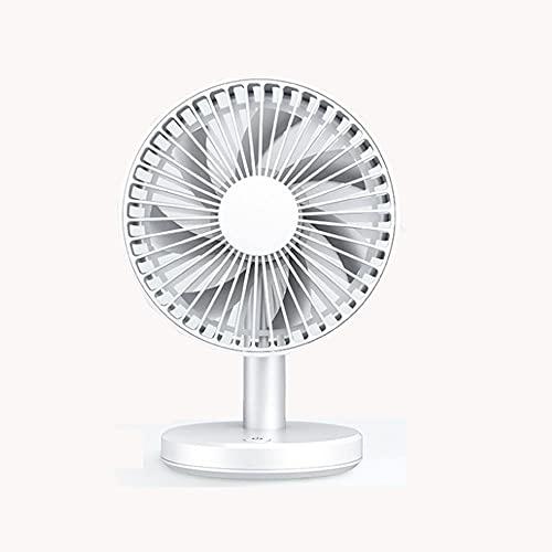Ventilador de batería 2500mAh, Mini potencia de alta potencia Ventilador de escritorio de mano, ventilador de escritorio personal recargable, giratorio y plegable, adecuado para viajes de verano (blan