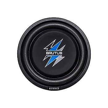Hifonics BXS8D4 Brutus Shallow Mount Subwoofer  Black  – 8 Inch Subwoofer 400 Watt Car Audio System 2 Inch Voice Coils UV Rubber Surround Best in Sealed Enclosures Marine Grade