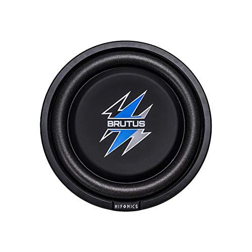 Hifonics BXS8D4 Brutus Shallow Mount Subwoofer (Black) – 8 Inch Subwoofer, 400 Watt, Car Audio System, 2 Inch Voice Coils, UV Rubber Surround, Best in Sealed Enclosures, Marine Grade