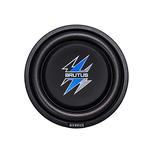 Hifonics BXS8D4 Brutus Shallow Mount Subwoofer (Black) – 8 Inch Subwoofer, 400 Watt, Car Audio System, 2 Inch Voice Coils, UV Rubber Surround, Best in Sealed Enclosures, Marine Grade