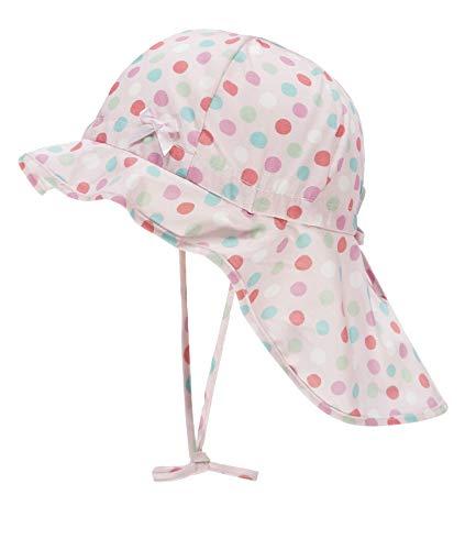 Döll Baby-Mädchen Nackenschutz Sonnenhut, Rosa (Pink Lady|Rose 2720), 47