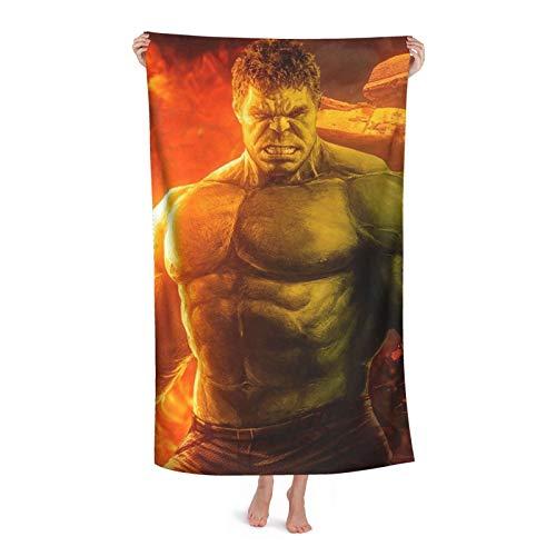 Hulk Toalla de baño para niños, playa, natación, casa, hotel, suave, extra grande, fibra superfina, para niñas y niños, 80,2 x 120 cm