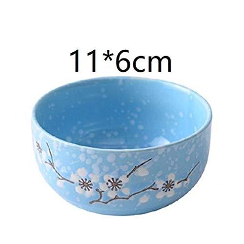 Bowls Keuken Accesoires Cuenco Plato Vajilla Utensilios de Cocina Vajilla de Porcelana Vajilla Placa Tigela Sopa de Cocina Comedor Bar Cuenco de cerámica Bowls-7.31 (Color : Version I)