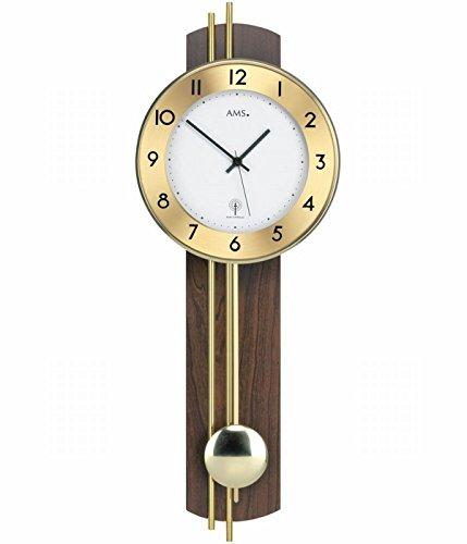 AMS 5266/1 - Reloj de pared analógico con péndulo, panel p
