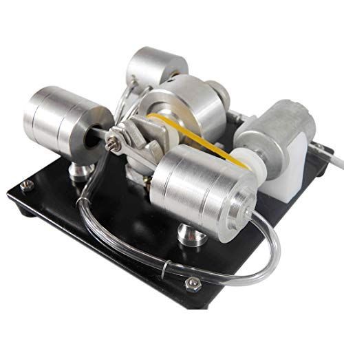 Batop Stirlingmotor Bausatz , Sterling Engine mit Dampf Kessel und Alkohol Brenner Stirling Engine Kit DIY Stirlingmotor Modell, Physik Unterricht Spielzeug