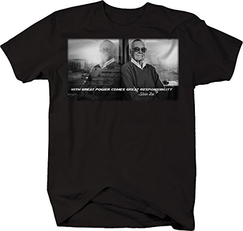 556 Gear Stan Lee - Great Power Comes Responsibility Tshirt - Large
