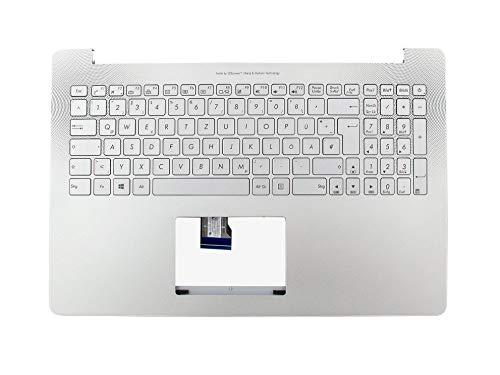 ASUS ZenBook UX501JW Original Tastatur inkl. Topcase DE (deutsch) Silber/Silber mit Backlight