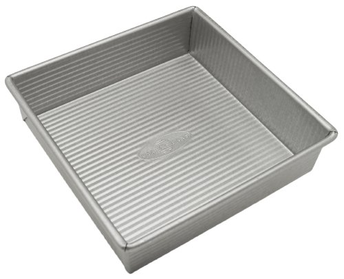Square Cake Pan, 8 inch, Made in the USA from Aluminized Steel