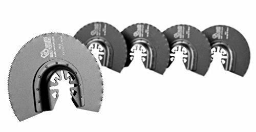 MW multi werkzeug® 5 Stück HCS Universal Multitool Segment-Sägeblätter 88mm für Holz, Gips und Kunststoff passend für AEG, Bosch, Einhell, Fein Multimaster, Makita, Topcraft, Worx