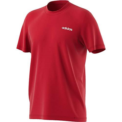adidas M D2m Ca PL Tee T-Shirt, Uomo, Scarlet/White, L