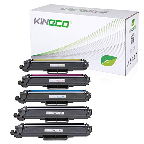 Kineco 5 Toner kompatibel für Brother TN243 TN-243 | MIT CHIP | MFC-L3710CW MFC-L3730CDN MFC-L3750CDW MFC-L3770CDW HL-L3210CW HL-L3230CDW HL-L3270CDW DCP-L3510CDW DCP-L3550CDW