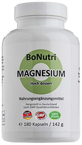 Magnesiumcitrat 400 mg Tagesdosis 180 vegane Kapseln 3-Monatsbedarf Ohne Magnesiumstearat Vegan Glutenfrei Laktosefrei Beste Qualität aus Deutschland Rückgaberecht