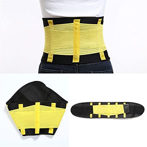 Cinturón de soporte trasero, soporte lumbar de la cintura transpirable Apoyo inferior a la espalda para la ciática, el disco herniado, la escoliosis Alivio de dolor de espalda baja, con doble ajustabl