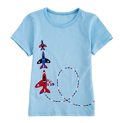 ALLAIBB Tee Shirt Manches Courtes Filles garçons (Color : Three Planes, Size : 100)