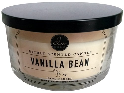 Decoware Vanilla Bean 3-wick Candle 13.3 Oz. In Glass