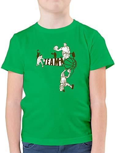 Sport Kind - Basketball Team - 164 (14/15 Jahre) - Grün - F130K - Kinder Tshirts und T-Shirt für Jungen