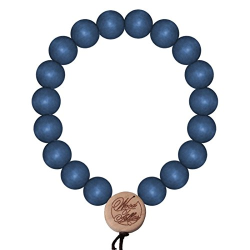 Wood Fellas Deluxe Pearl Armband Blue, Blue, 12mm