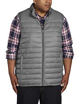 Amazon Essentials Men s Big & Tall Lightweight Water-Resistant Packable Puffer Vest Gray 5X