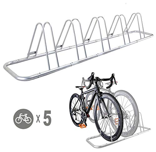 5 Bike Bicycle Floor Parking Rack Storage Stand by CyclingDeal