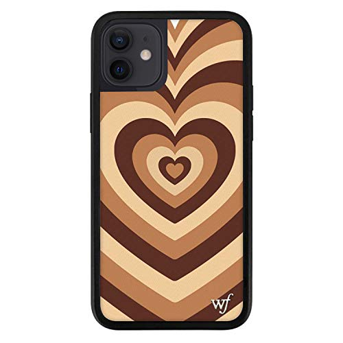Wildflower Limited Edition Cases Compatible with iPhone 12 and 12 Pro (Coffee Hearts)