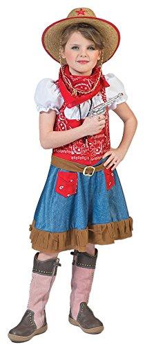 Preisvergleich Produktbild Cowgirl Arizona Kostüm für Mädchen Gr. 116 - Tolles Wild West Kostüm für Kinder