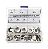 HVAZI 350PCS Metric M3 M4 M5 M6 M8 M10 M12 304 Stainless Steel Wave Spring Washer Assortme...