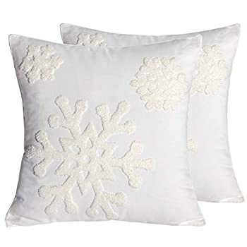 Best snowflake pillow covers 18x18 Reviews