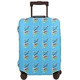 こいのぼり スーツケースカバー 伸縮素材 トラベルダストカバー キャリーカバー 可愛風 スーツケース保護カバー ラゲッジカバー お荷物カバー 通気性 傷防止 防塵カバー 洗える 出張 旅行 1枚