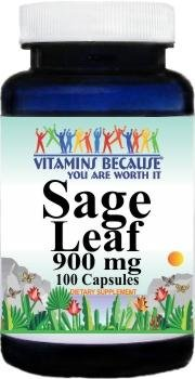 Sage Leaf Extract 900mg 100 Capsules