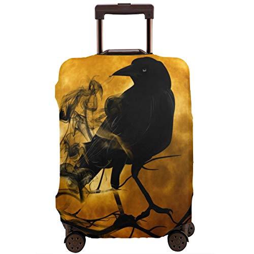 Nicokee Reisegepäck-Abdeckung, lustig, Schwarze Krähe, Rabe, Koffer-Schutz, passend für 45,7-81,3 cm Gepäck, Mehrfarbig (Mehrfarbig) - UKXXLX-FCZ-95408800
