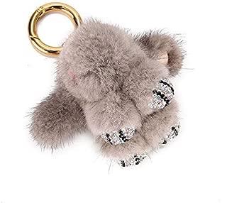 DierCosy Porte-Cl/és Lapin Lapin Keychain Mini Lapin Pendentif Porte-Cl/és Hanging Ornement pour Sac /à Dos de Voiture /à Main Porte-Cl/és