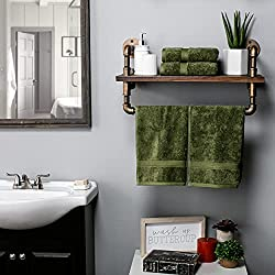 Superior 900 Gram 100% Premium Long-Staple Combed Cotton 4-Piece Hand Towel Set, Forest Green