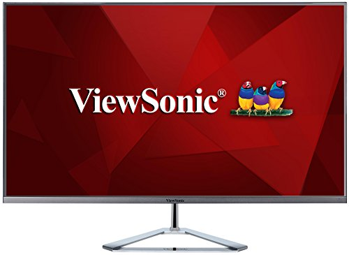 Viewsonic VX3276-2K-MHD 80 cm (32 Zoll) Design Monitor (WQHD, IPS-Panel, HDMI, DP, mDP, Eye-Care, Eco-Mode, Lautsprecher, 3 Jahre Austauschservice) Silber-Schwarz