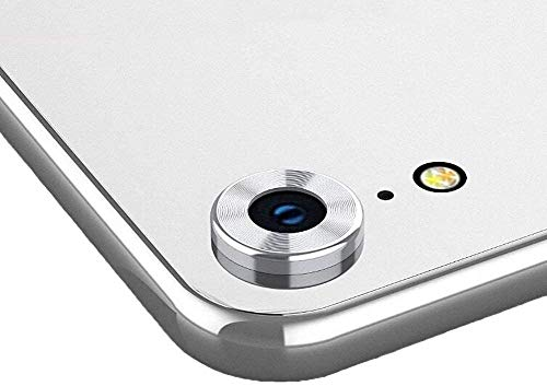 KHR® Metallic Alloy Protective Ring for Apple iphone Xr Rear Camera Lens (Silver)