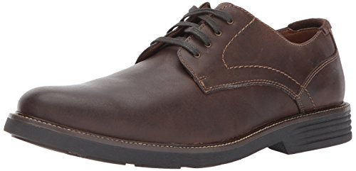 Dockers Mens Parkway Leather Dress Casual Oxford Shoe with NeverWet, Dark Brown, 11.5 W