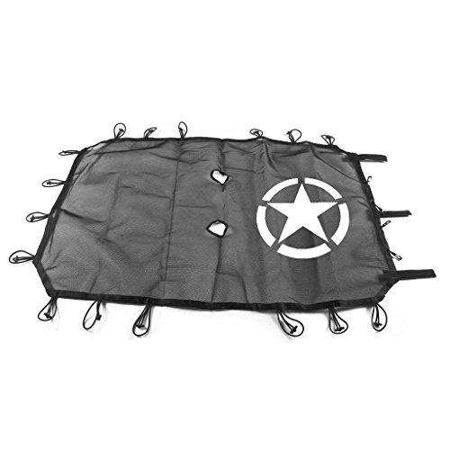 Qiuxiaoaa Fit Wrangler JK 4Door 5-Sterne-Dachgitter-Sonnenschutz, UV-Schutz,