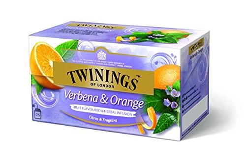 Twinings Verbena and Orange Früchtetee - Raffinierte Teekreation mit natürlicher Zitronen-Note und dem mild-süßen Aroma sonnengereifter Orangen im Beutel