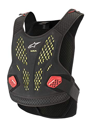 Alpinestars Sequence Motorcycle Chest Protector, Black/White/Red, Medium/Large