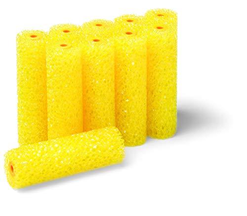 10 Stück Strukturwalze grob/gelb 110 mm Roller zum Rollen von Raptor 22580