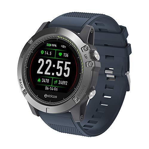 Zeblaze Vibe 3 HR Smartwatch, Hongtianyuan FitnessTracker, orologio da polso con cardiofrequenzimetro IP67 impermeabile Tracker attività Tracker Bluetooth Smart da polso (Blu)