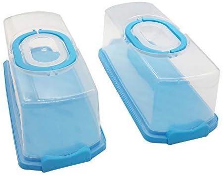 2 Pcs Portable Rectangular Plastic Bread Alternative dealer with and Handle Carrier Regular discount