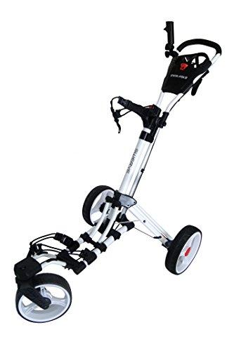 Founders Club Swerve 360 Swivel Wheel Qwik Fold Golf Push Cart (White/White)