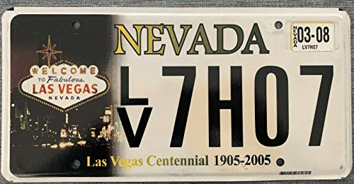 MNUT Authentic American License Plate Nevada Las Vegas Centennial License Plate Sign 6x12 inches