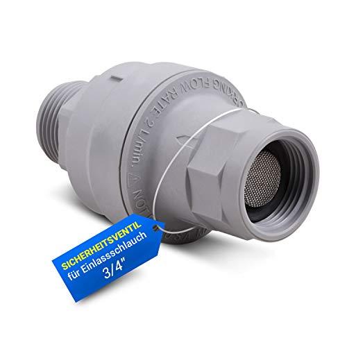 Sicherheitsventil Wasserstopventil Universal Wasseranschluss Adapter Aquastop Ventil 3/4 mit Durchflussmengenmesser Wasserstop Rückschlagventil für Zulaufschlauch Waschmaschine Geschirrspüler