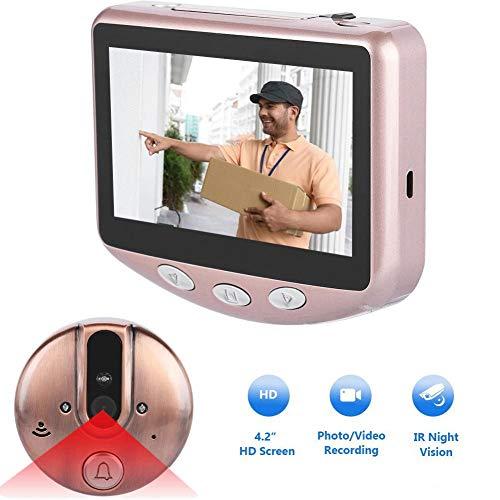 Vbestlife Deurbel voor de deur, 720P, draadloos, intelligente wifi-camera HD IR detectie nachtzicht