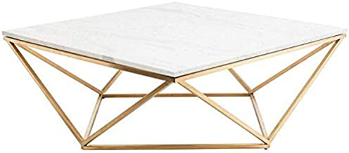 Marble coffee table- Gold