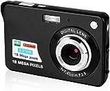 CamKing Appareil Photo Numérique, CDC3 2,7 Pouces TFT LCD HD Mini Zoom Caméra, 8X Digital Caméra Vidéo Numérique pour Les étudiants, Les Enfants, Les Adultes (Noir)