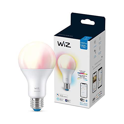 Wiz Bombilla Wifi y Bluetooth LED Regulable Colores A67 100w E27 Luz blanca y de colores, 2200-6500K, 13W (equivale a 100 W), A+